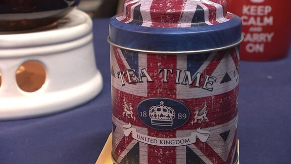 Eine Teedose im Britischen Stil