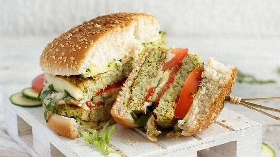 Ein veganer Burger
