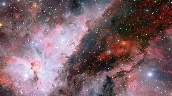 Eine spekakuläre Aufnahme des Carina-Nebels der europäischen Südsternwarte. Der Nebel ist ein großeses Stern-Entstehungsgebiet in rund 8000 Lichtjahren Entfernung von der Erde.