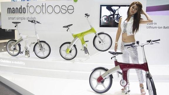 Model mit kettenlosem Rad
