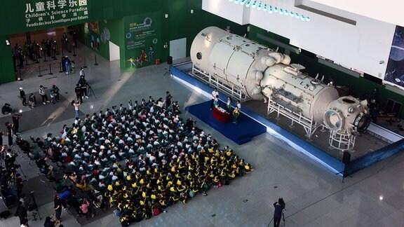 Modell der chinesischen Raumstation