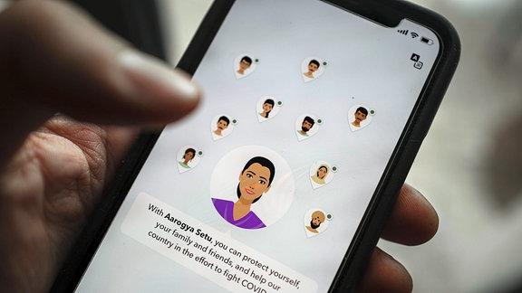 Corona App Indien