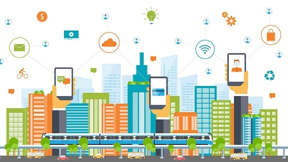 Integriertes Service System für den Crosschannel-Handel in der Zukunftsstadt.