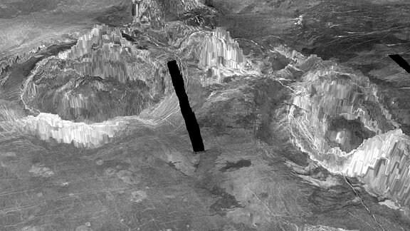 3D-Darstellung von Koronen auf der Venus
