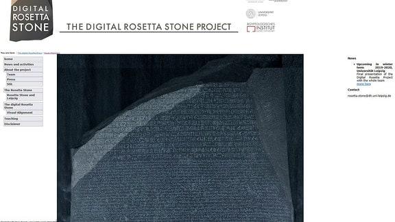 Screenshot - The Digital Rosetta Stone Project