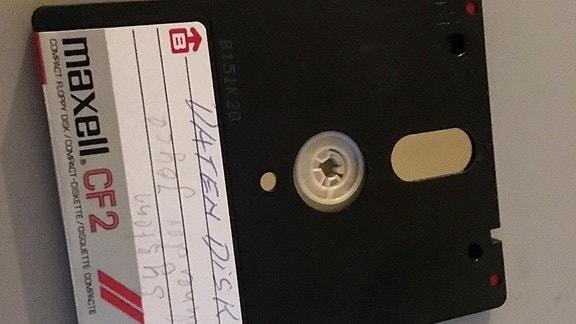 Eine 3 Zoll Diskette für einen PC aus den 1990er Jahren.