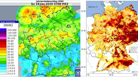Grafik zur Dürre