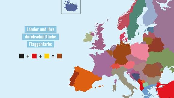 """Durchschnittsfarben europäischer Flaggen aus """"Spaß mit Flaggen"""""""
