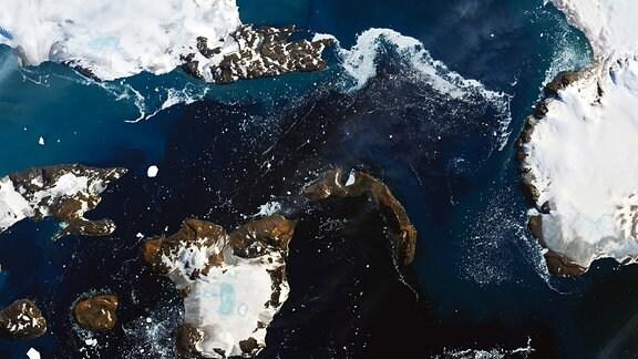 Satellitenaufnahme von Eagle Island in der Westantarktis vom 13. Februar 2020