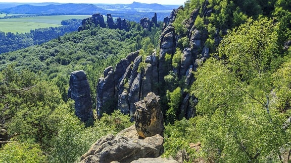 Die Schrammsteine im Elbsandsteingebirge