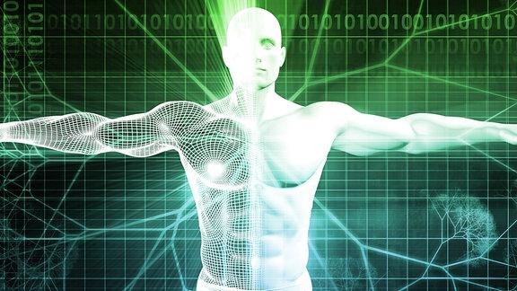 Epigenetik und Mensch Grafik