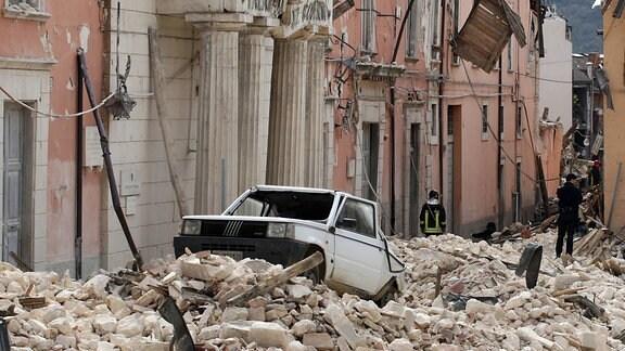Schäden durch, ein Erdbeben in L Aquila in den Abruzzen, Italien 2009