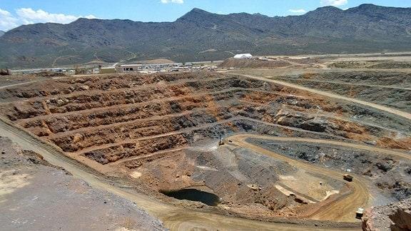 Seltene Erden Mine bei Las Vegas USA