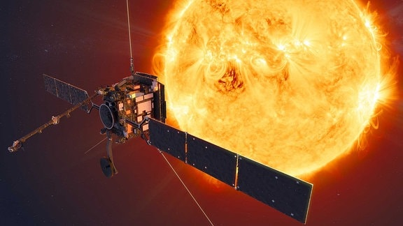 Künstlerische Darstellung der ESA Raumsonde Solar Orbiter