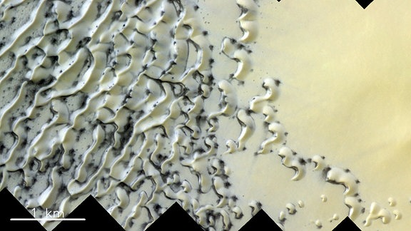 Dünen in der nördlichen Polarregion auf dem Mars.