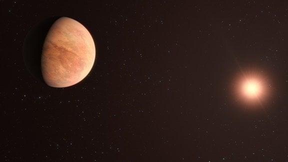 Künstlerische Darstellung des Exoplaneten L 89-59b.