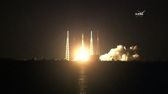 Start Falcon 9 Rakete vom Kennegdy Space Center