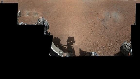 Das erste Panoramabild, das der Rover 2012 gesendet hat