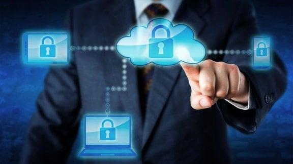Sperrung mobiler Geräte über ein Cloud-Netzwerk.