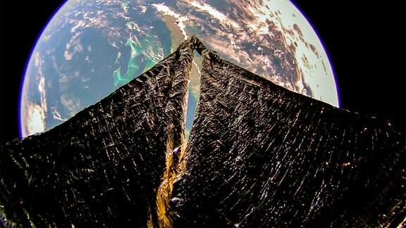LightSail2 schaut aus dem Weltraum auf Kuba und die Bahamas.