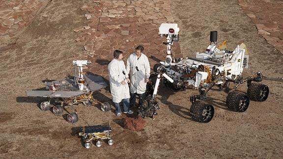 Mars Rover MER, Sojourner und Curiosity