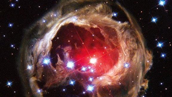 Sternexplosion im Sternbild Einhorn