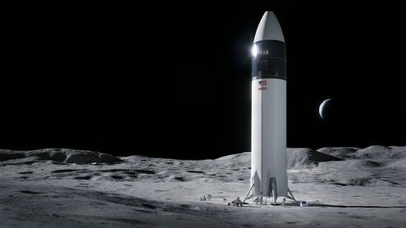Das Starship für die NASA im Einsatz auf dem Mond