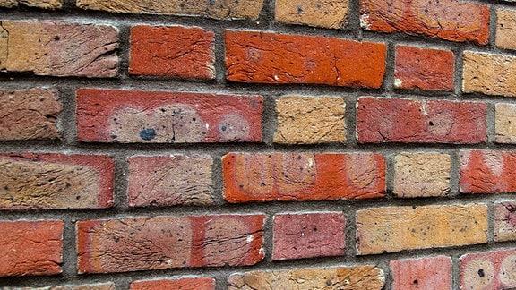 Eine Ziegelsteinmauer
