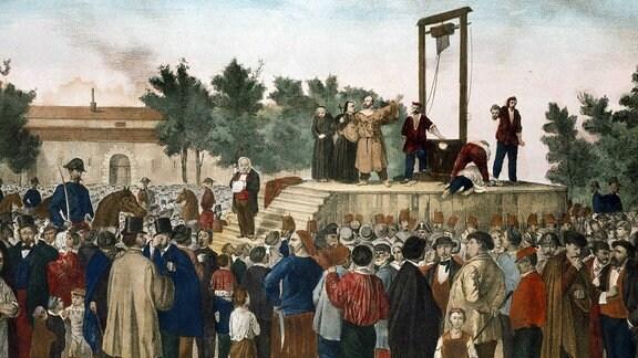L execution vom 13.03.1858 von Felice Orsini (1819 - 1858)