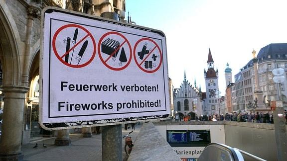 Feuerwerksverbot in der Münchner Innenstadt