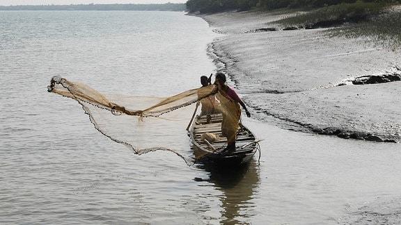 Fischer am Gangesdelta