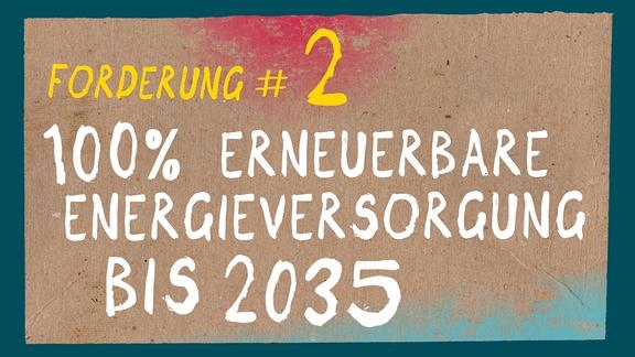 100 % erneuerbare Energieversorgung bis 2035