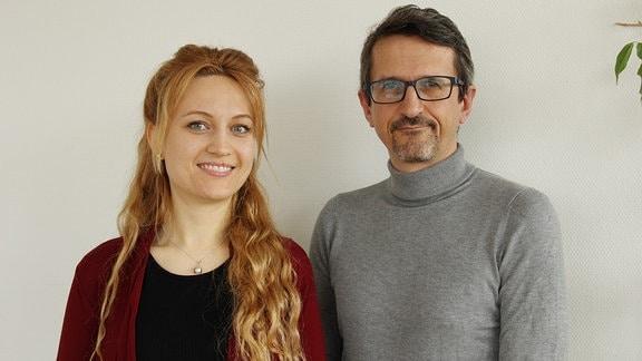 Dr. Anne Gärtner und Prof. Alexander Strobel von der TU Dresden