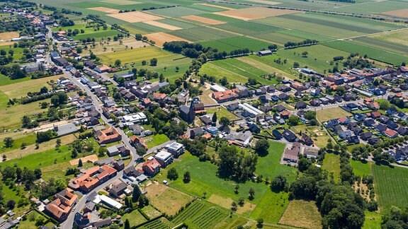 Luftbild der Gemeinde Gangelt im  Kreis Heinsberg