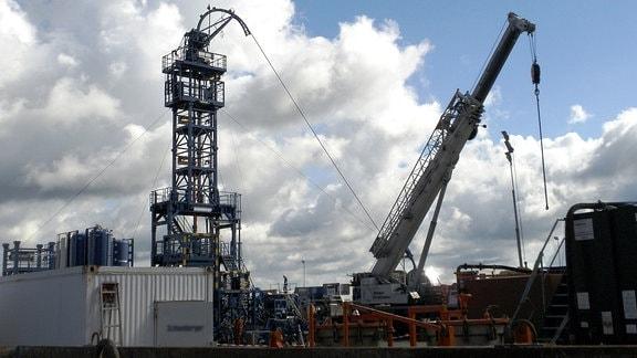 Fracking von Schiefergas