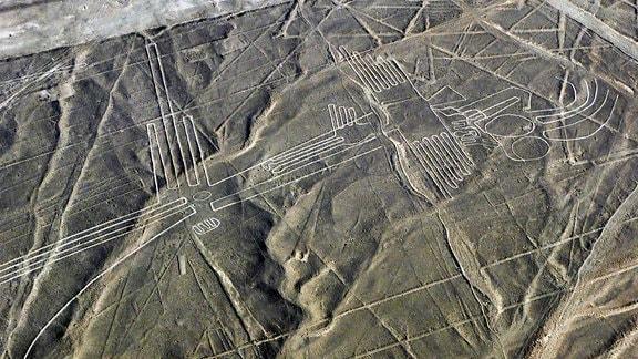 Die Nazca-Linien befinden sich nahe der Stadt Nazca.