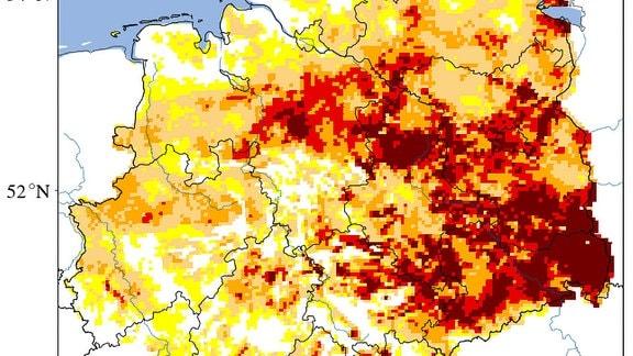 Eine Wärmegrafik von Deutschland
