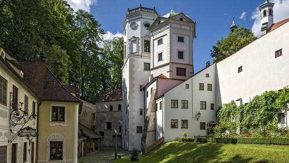 Schwäbisches Handwerkermuseum, Großer und Kleiner Wasserturm und Heilig-Geist-Spital