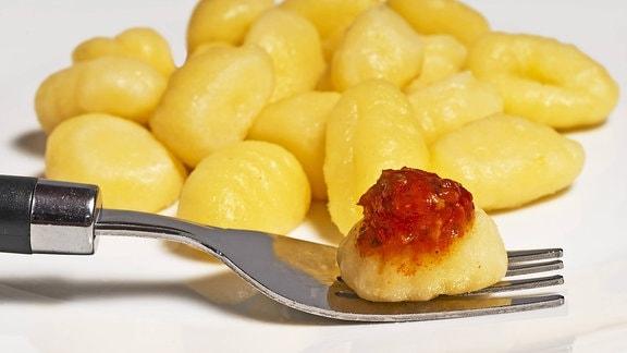 Gnocchi auf einem Teller