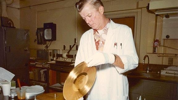 Goldene Schallplatte - Laminierung