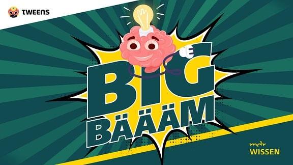 """Logo des neuen Podcasts """"Big Bäääm - #Wissen ohne Filter"""""""