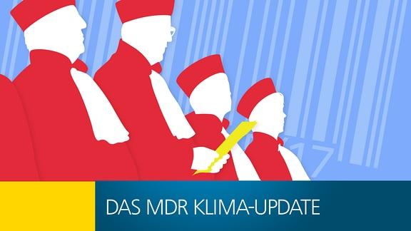 Grafik mit Bundesverfassungsrichter in roter Robe