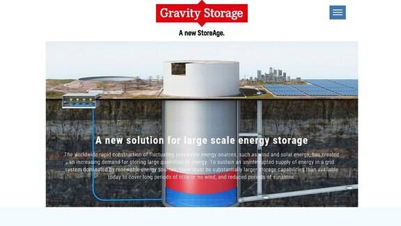 Gravity Storage-Seite von Prof. Dr. Eduard Heindl