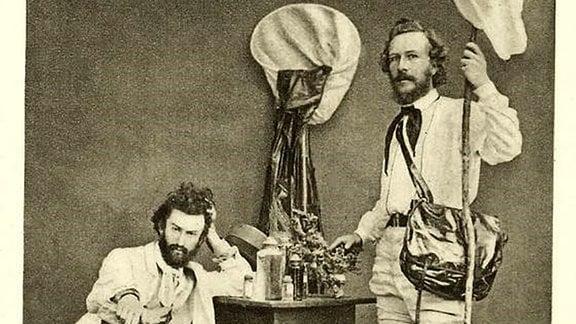 Ernst Haeckel (r.) und Nikolai Miklucho-Maclay in den 1860ern.
