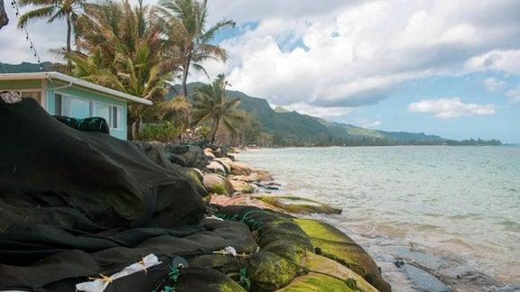 Wohnen mit Blick auf Meer auf Hawaii-Insel O'ahu