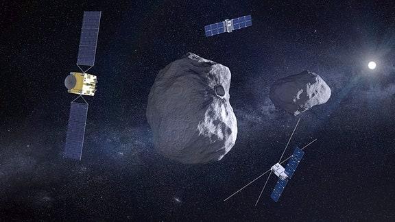 Hera-Mission der ESA zum binären Asteroidensystem Didymos