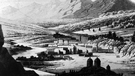 Historische Gravur Sulaymaniyah um 1900