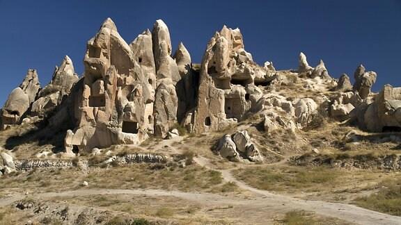 eine Höhlenstadt in Anatolien