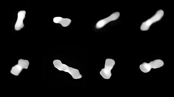 Der rotierende Asteroid Kleopatra