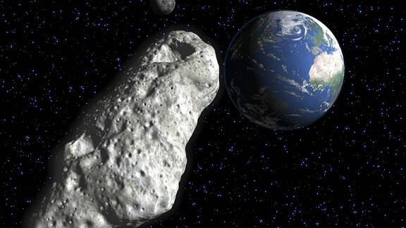 Asteroid trifft Erde